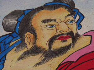 Paintings depict blue eyed Mongol Emperors