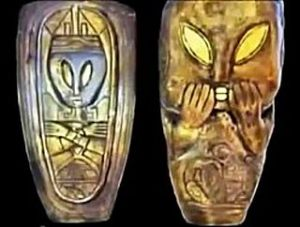 Mayan artifacts depicting aliens