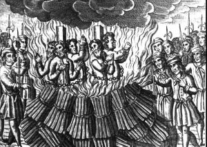 People burned as heretics