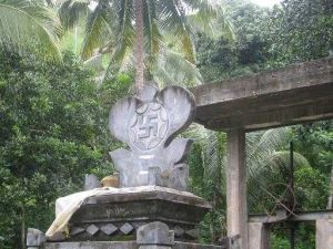 The Swastika - the Hindu Symbol - in North Bali Indonesia Asia