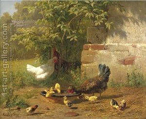 Meal-TimeMeal Time Carl Jutz Oil Painting Reprodu