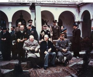 Yalta summit 1945 with Churchill Rooseve Stalin